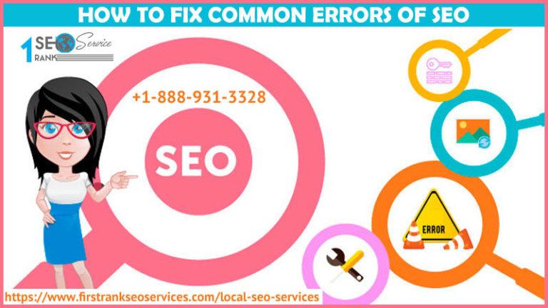 How to fix Common Errors of SEO