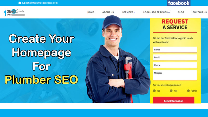 homepage for plumber SEO