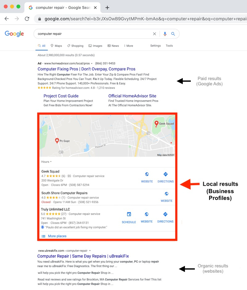 google my business demo