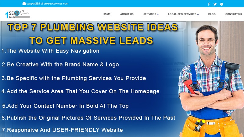 Top 7 Plumbing Website Ideas to Get Massive Leads