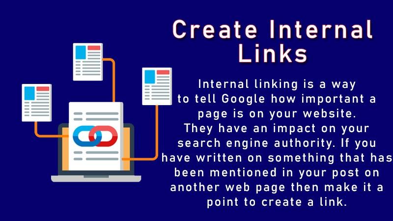 Create internal links