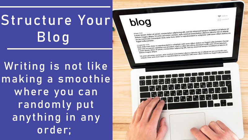 Structure your blog