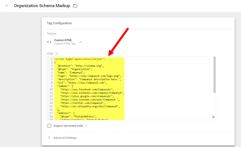 add schema markup to website