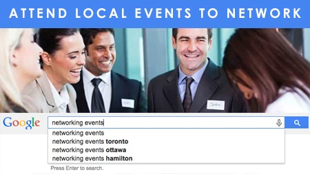 Attend local events to network