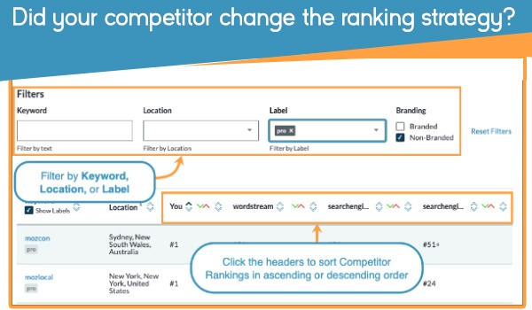 Did your competitor change the ranking strategy