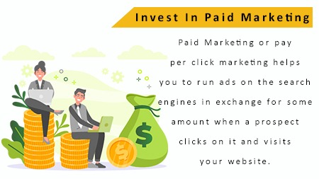 Invest in Paid marketing