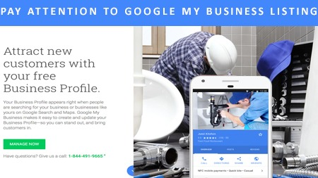 Pay attention to Google my Business listing