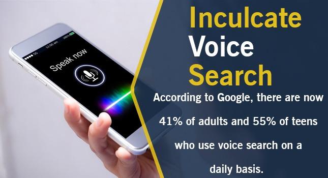 inculcate voice search