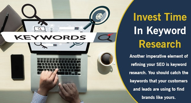invest time in keyword research