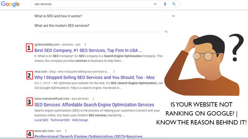 IS YOUR WEBSITE NOT RANKING ON GOOGLE? | KNOW THE REASON BEHIND IT!