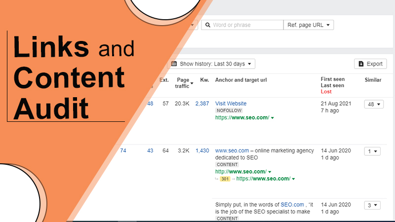 Links and Content Audit - SEO Audit Services